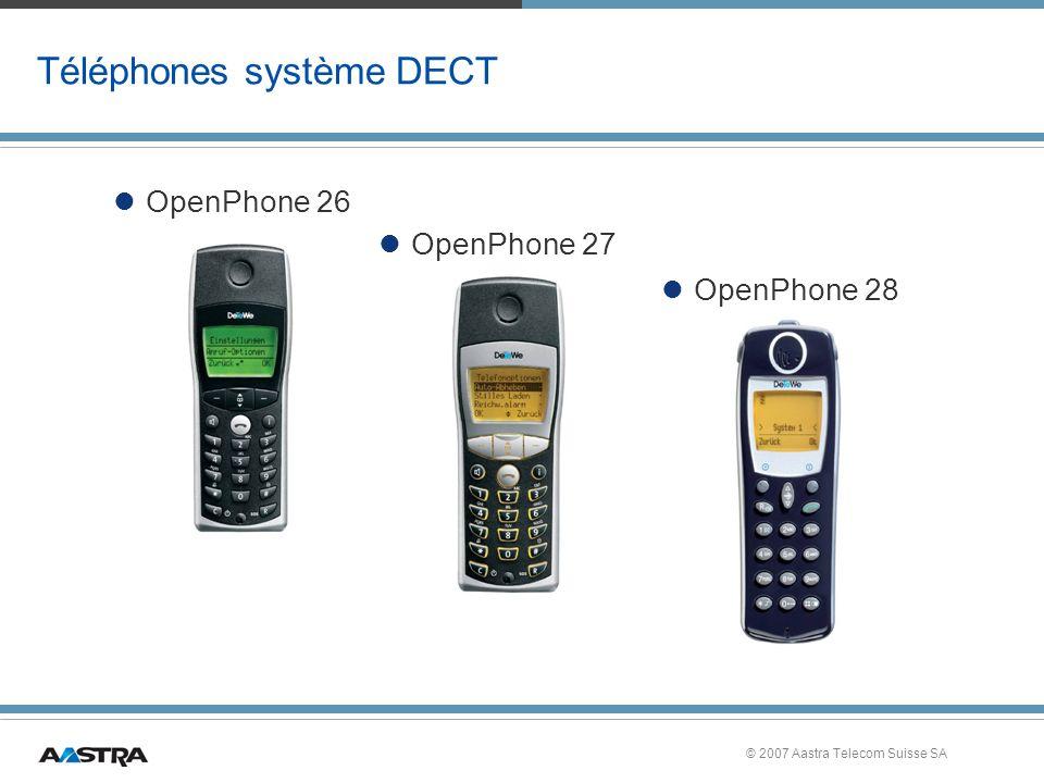 Téléphones système DECT