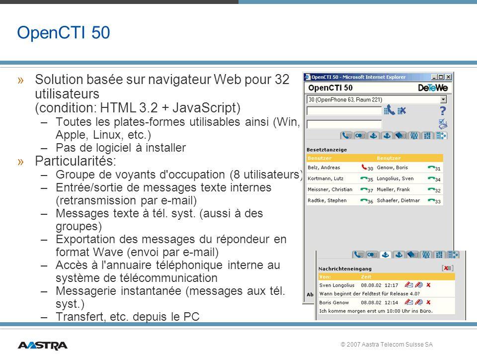 OpenCTI 50 Solution basée sur navigateur Web pour 32 utilisateurs (condition: HTML 3.2 + JavaScript)