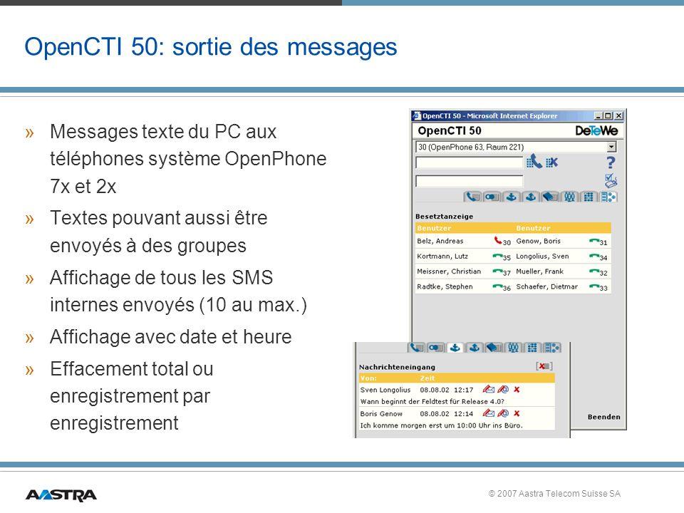 OpenCTI 50: sortie des messages