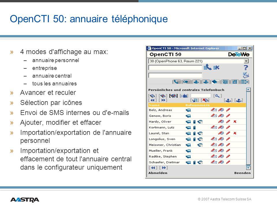 OpenCTI 50: annuaire téléphonique
