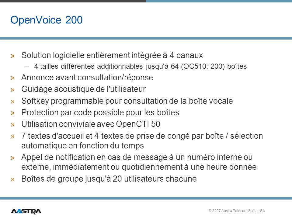 OpenVoice 200 Solution logicielle entièrement intégrée à 4 canaux