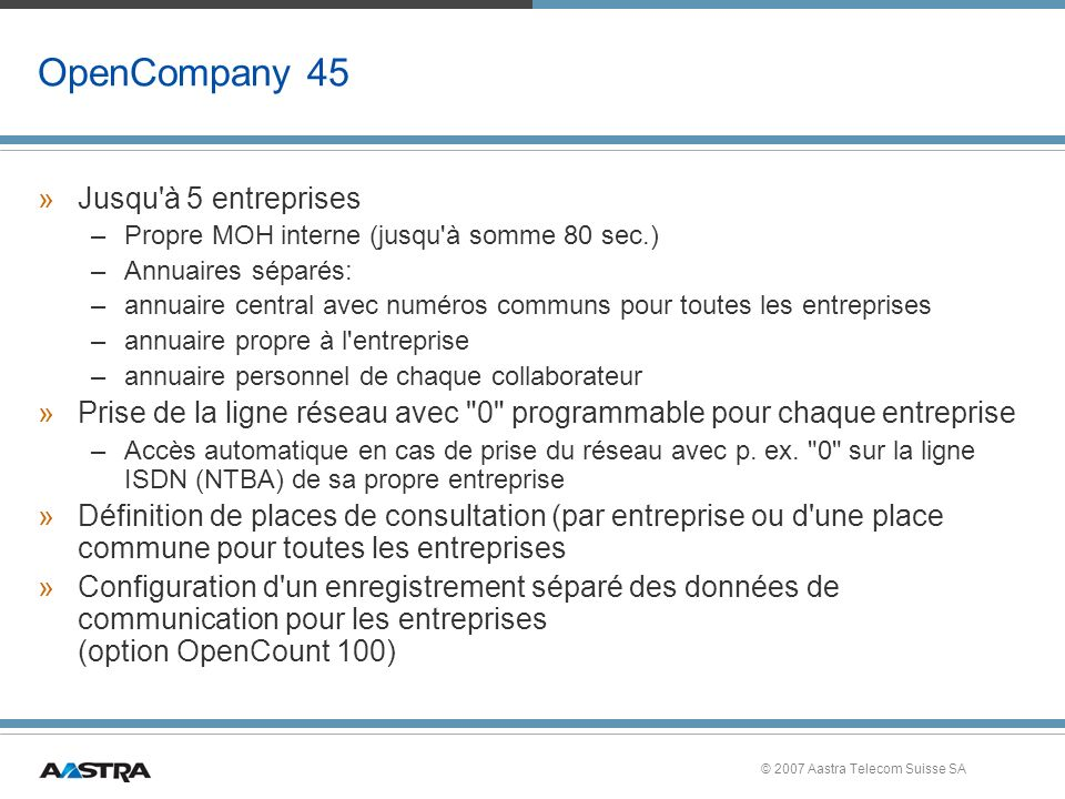 OpenCompany 45 Jusqu à 5 entreprises