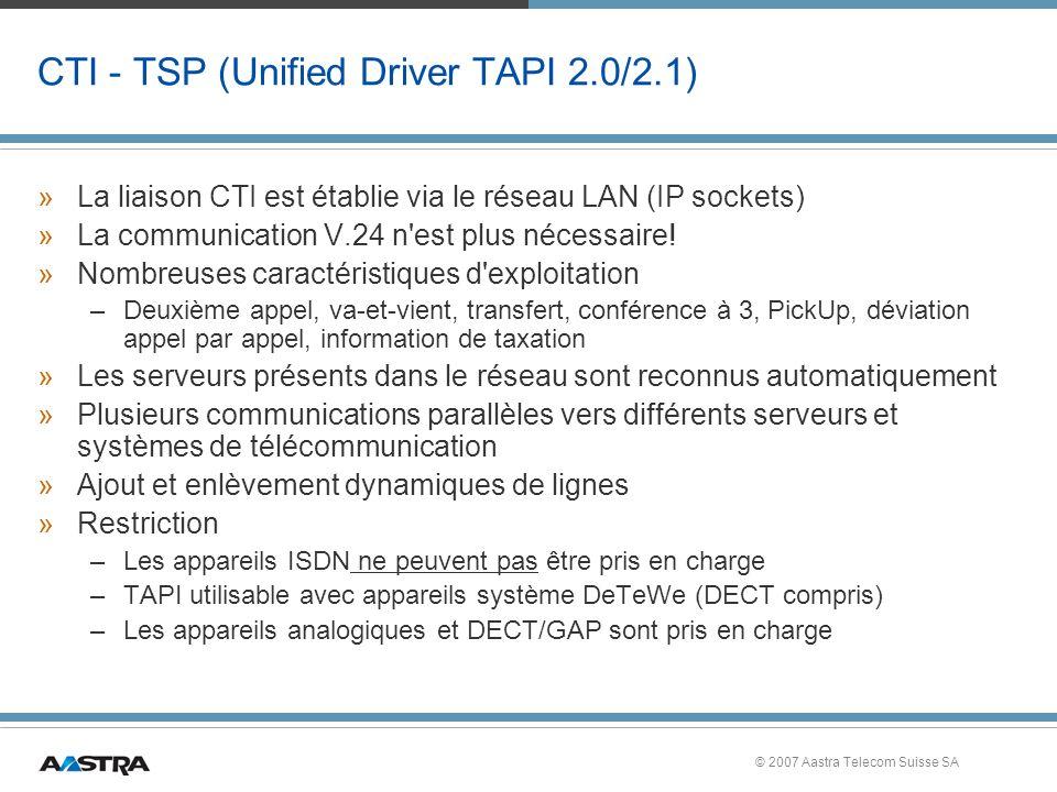 CTI - TSP (Unified Driver TAPI 2.0/2.1)