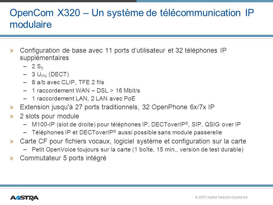 OpenCom X320 – Un système de télécommunication IP modulaire
