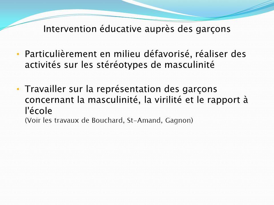 Intervention éducative auprès des garçons