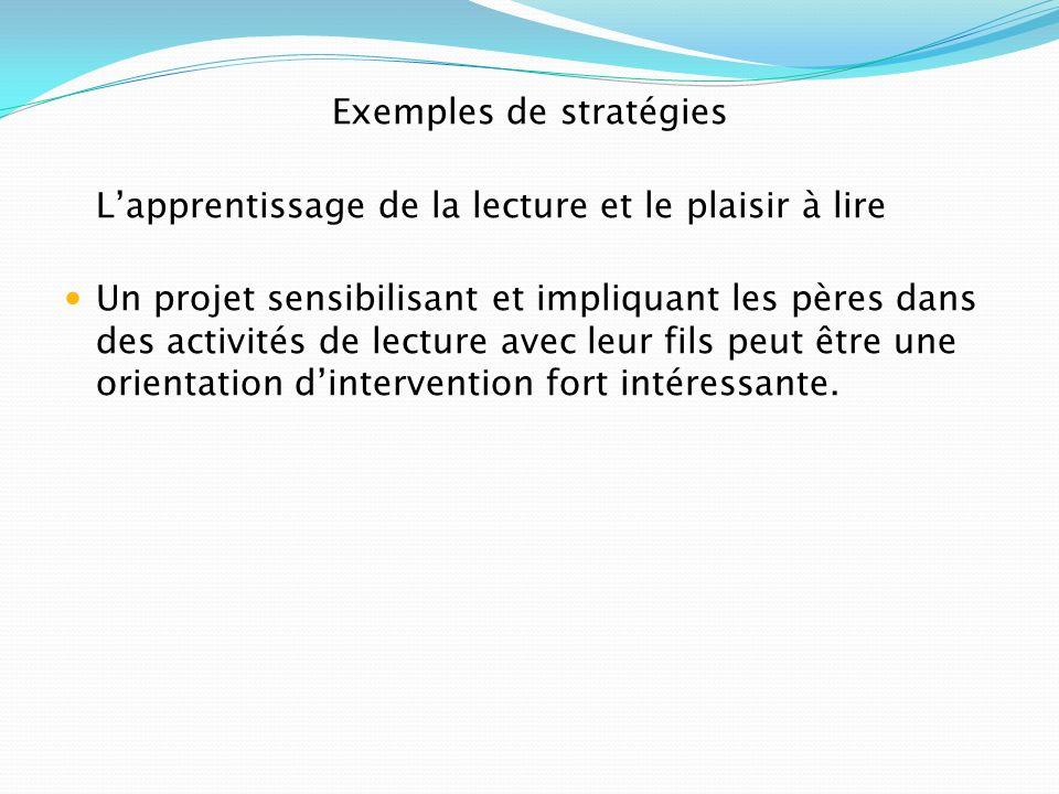 Exemples de stratégies