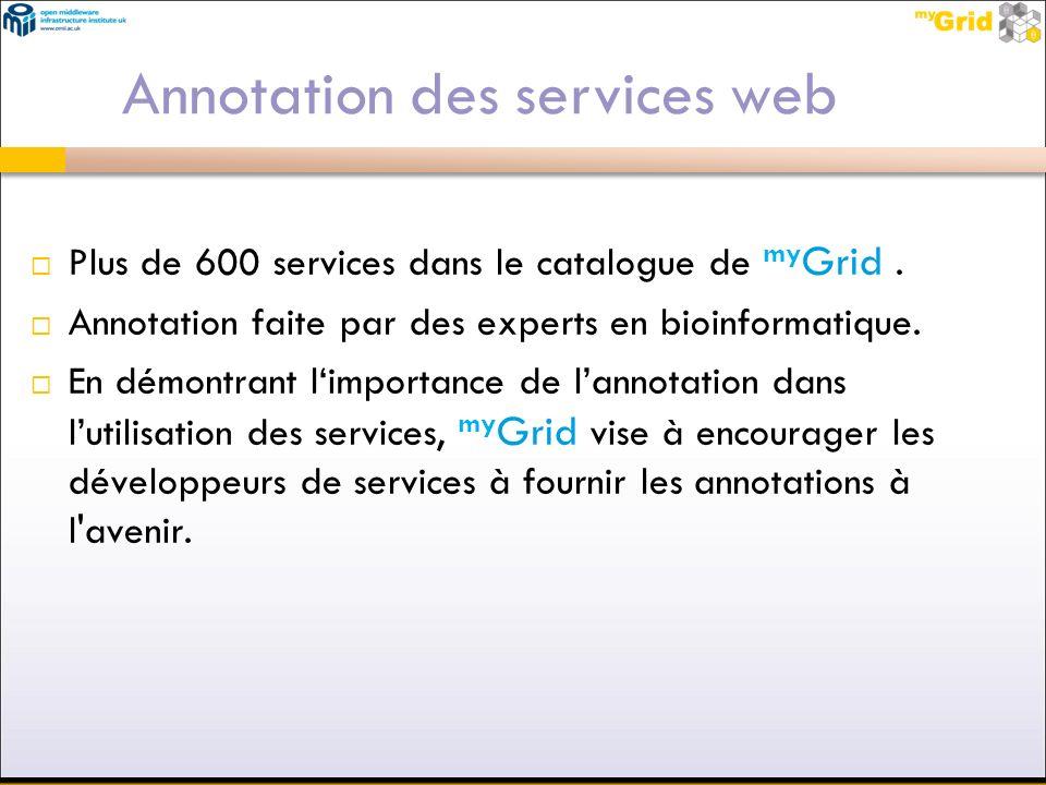Annotation des services web