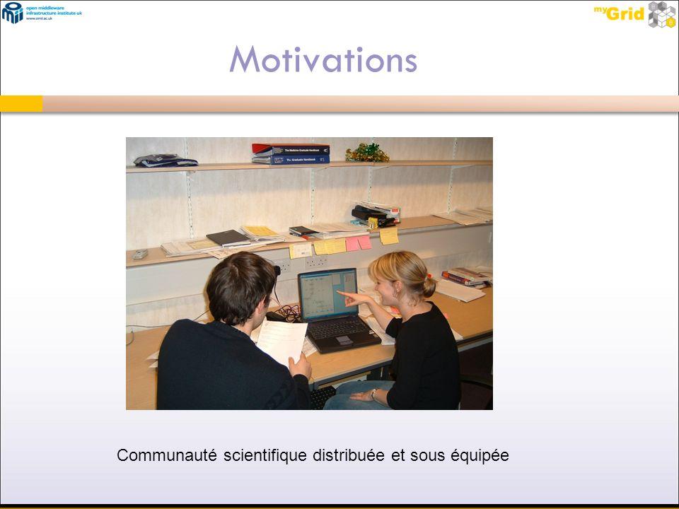 Motivations Communauté scientifique distribuée et sous équipée 39