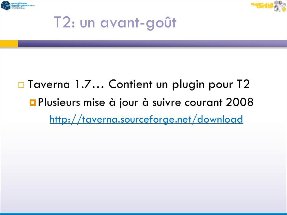 T2: un avant-goût Taverna 1.7… Contient un plugin pour T2