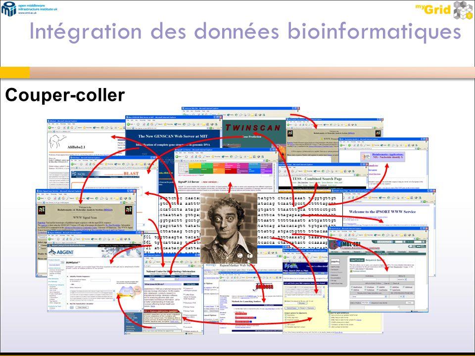 Intégration des données bioinformatiques