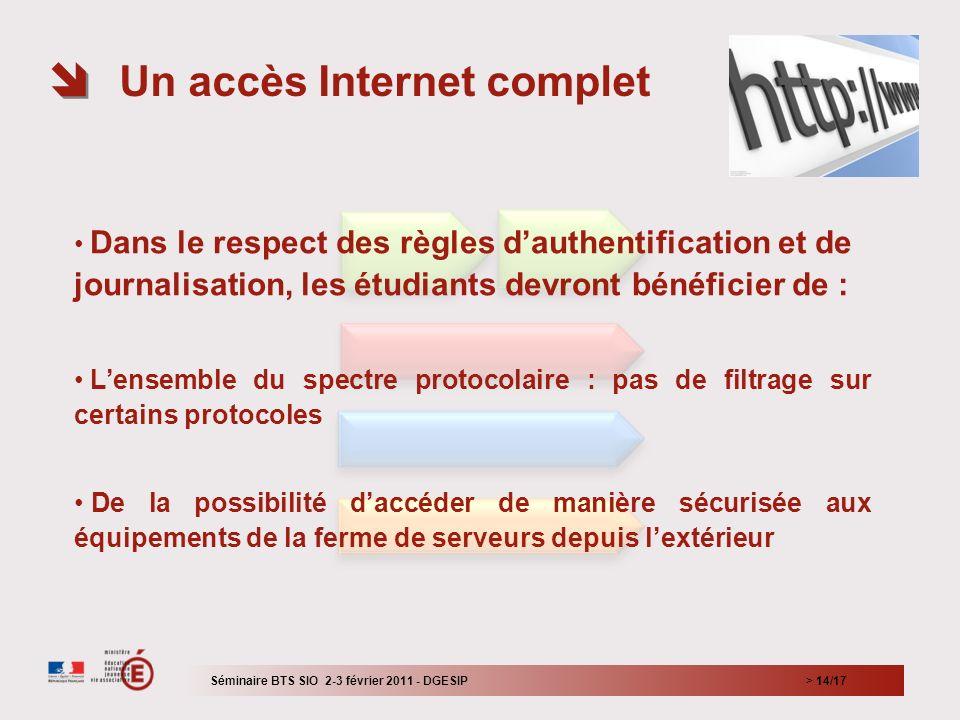 Un accès Internet complet