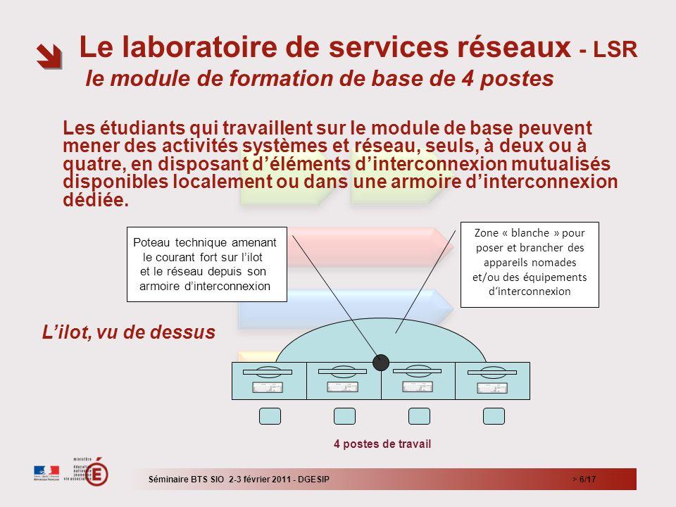 Le laboratoire de services réseaux - LSR le module de formation de base de 4 postes