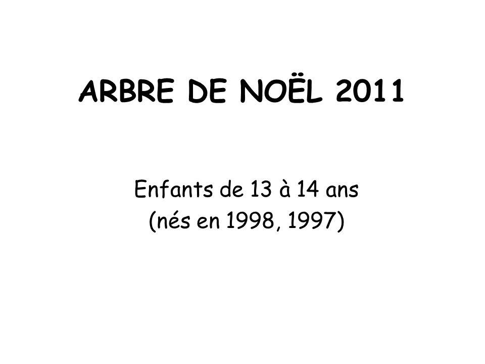 Enfants de 13 à 14 ans (nés en 1998, 1997)