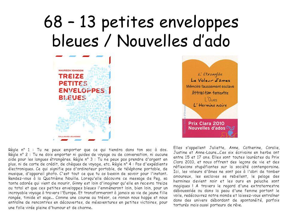 68 – 13 petites enveloppes bleues / Nouvelles d'ado