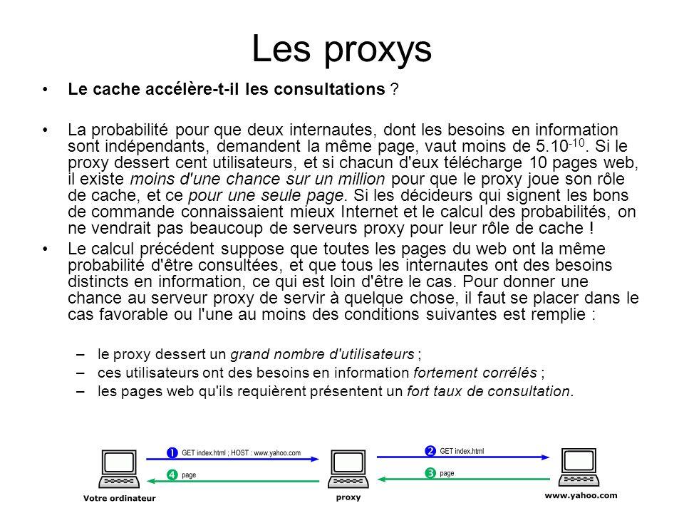 Les proxys Le cache accélère-t-il les consultations