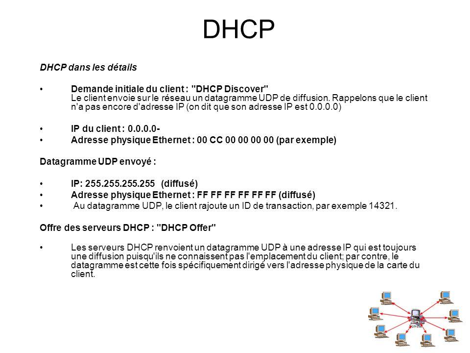 DHCP DHCP dans les détails