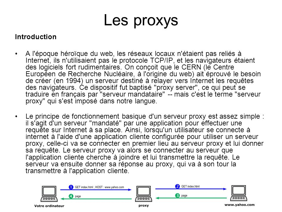 Les proxys Introduction