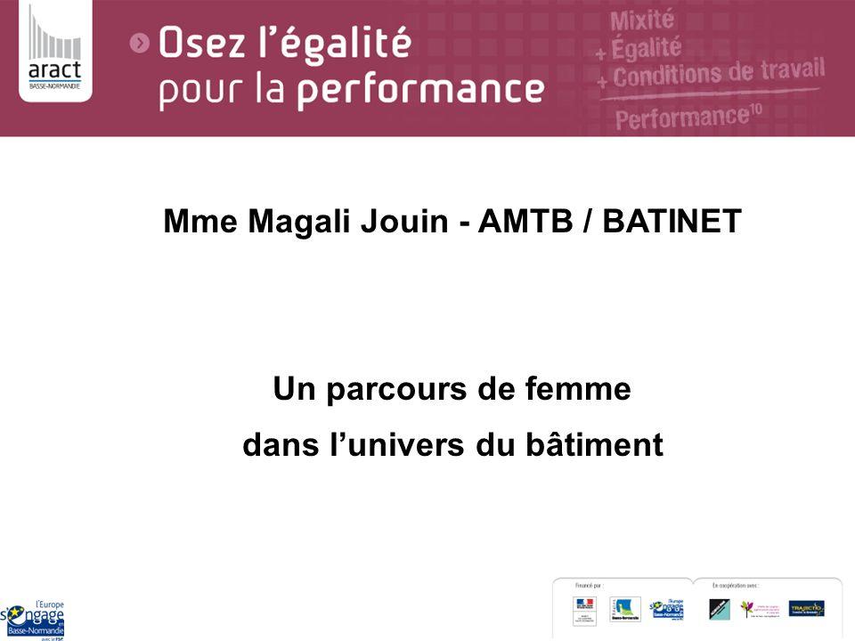 Mme Magali Jouin - AMTB / BATINET dans l'univers du bâtiment