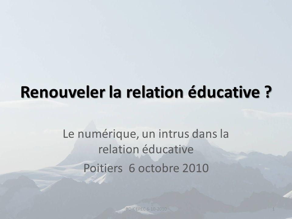 Renouveler la relation éducative
