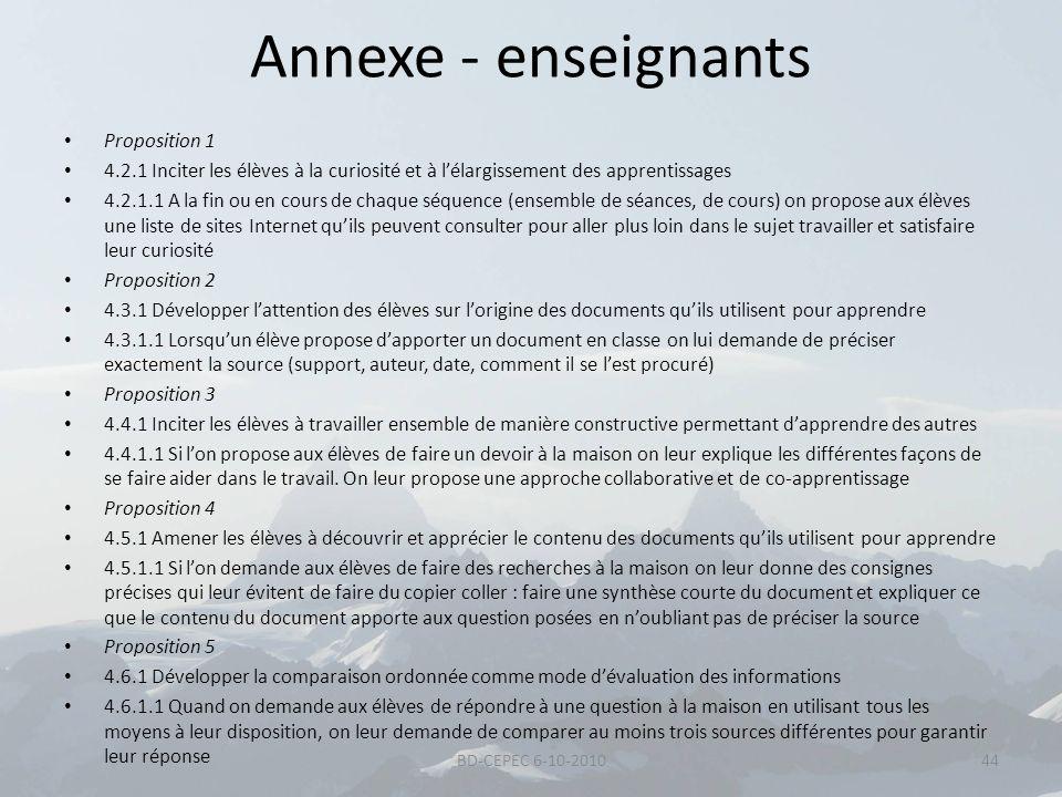 Annexe - enseignants Proposition 1