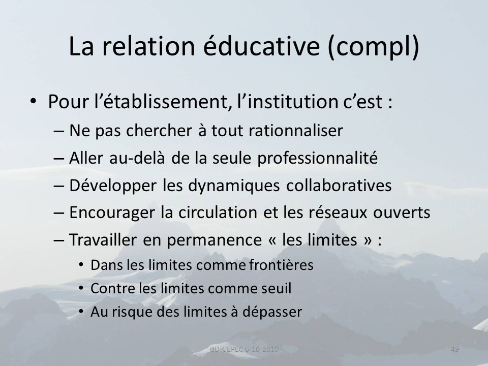La relation éducative (compl)
