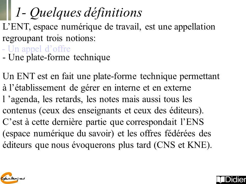 1- Quelques définitions
