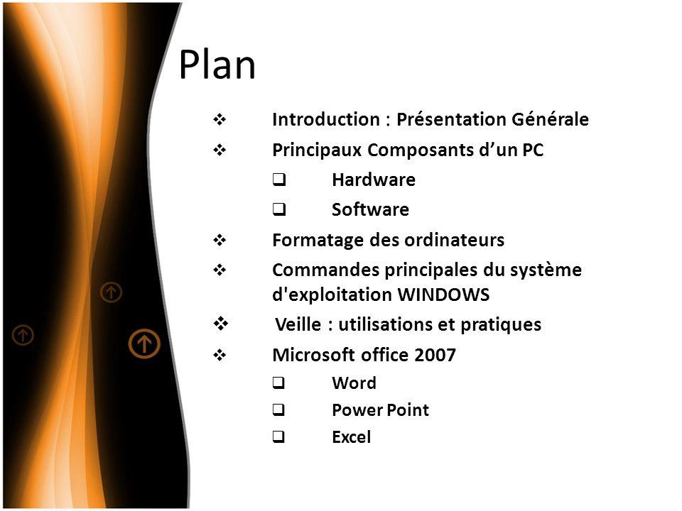 Plan Introduction : Présentation Générale