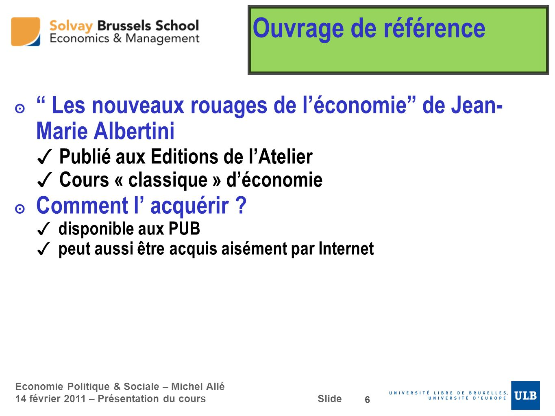 Ouvrage de référence Les nouveaux rouages de l'économie de Jean-Marie Albertini. Publié aux Editions de l'Atelier.