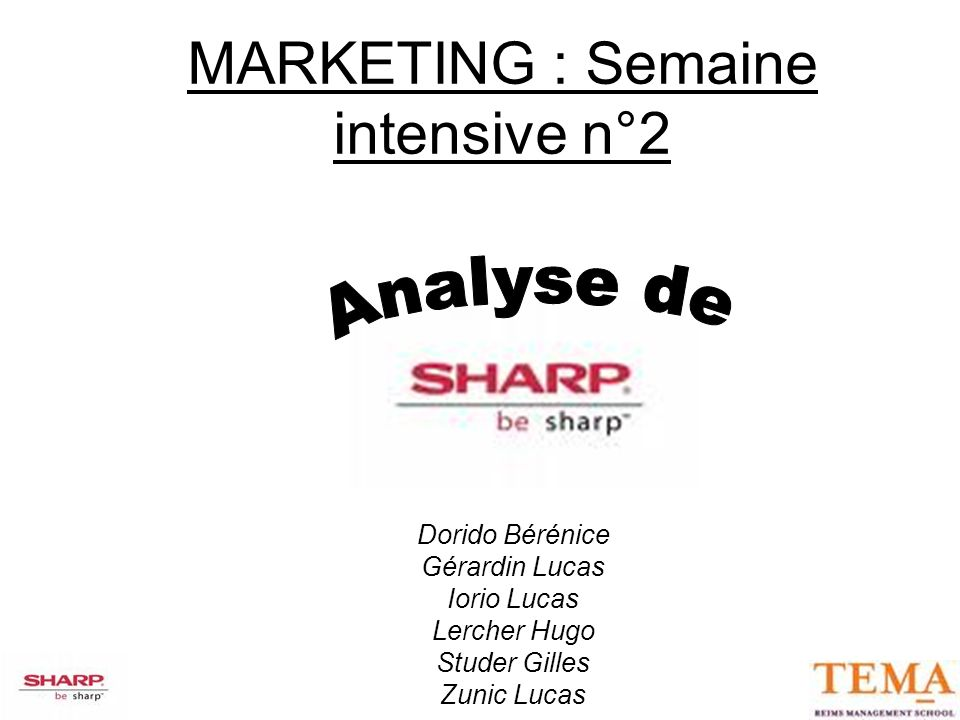MARKETING : Semaine intensive n°2