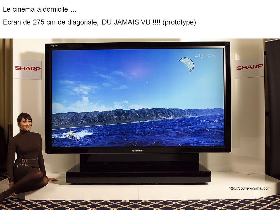Ecran de 275 cm de diagonale, DU JAMAIS VU !!!! (prototype)