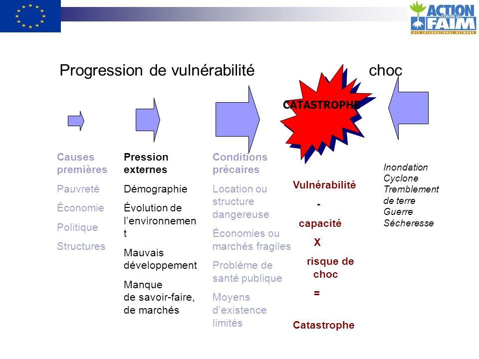 Progression de vulnérabilité choc