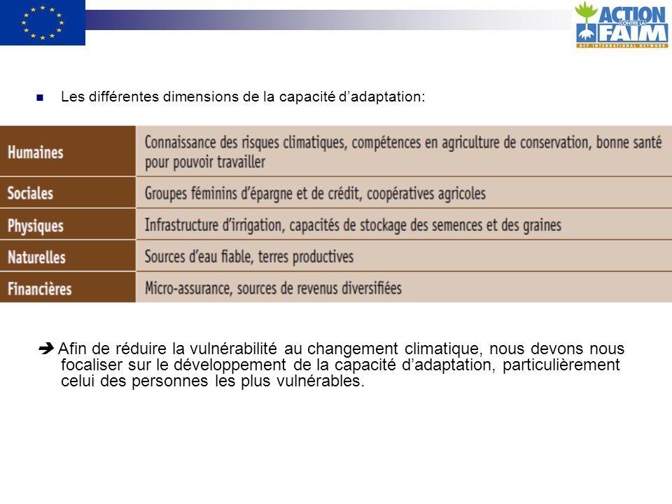 Les différentes dimensions de la capacité d'adaptation: