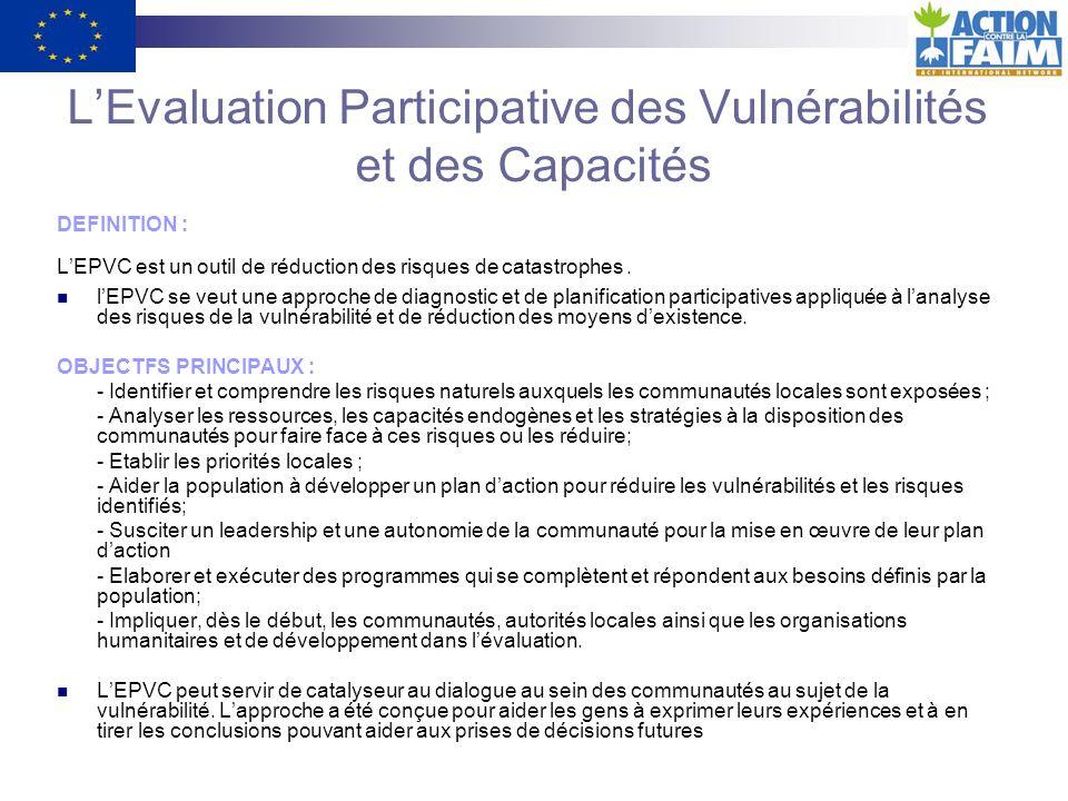 L'Evaluation Participative des Vulnérabilités et des Capacités