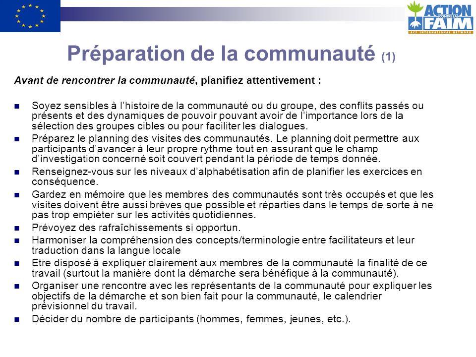 Préparation de la communauté (1)