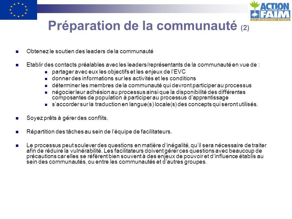 Préparation de la communauté (2)