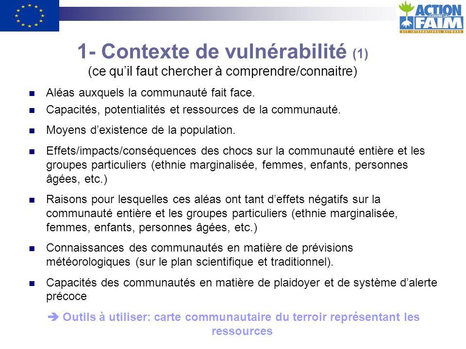 1- Contexte de vulnérabilité (1) (ce qu'il faut chercher à comprendre/connaitre)