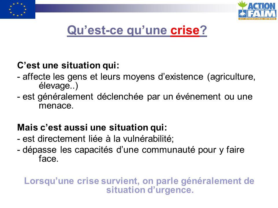 Qu'est-ce qu'une crise