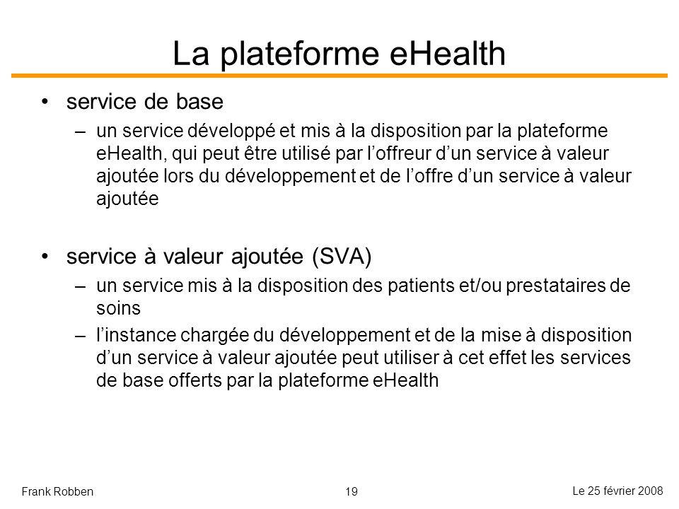 La plateforme eHealth service de base service à valeur ajoutée (SVA)