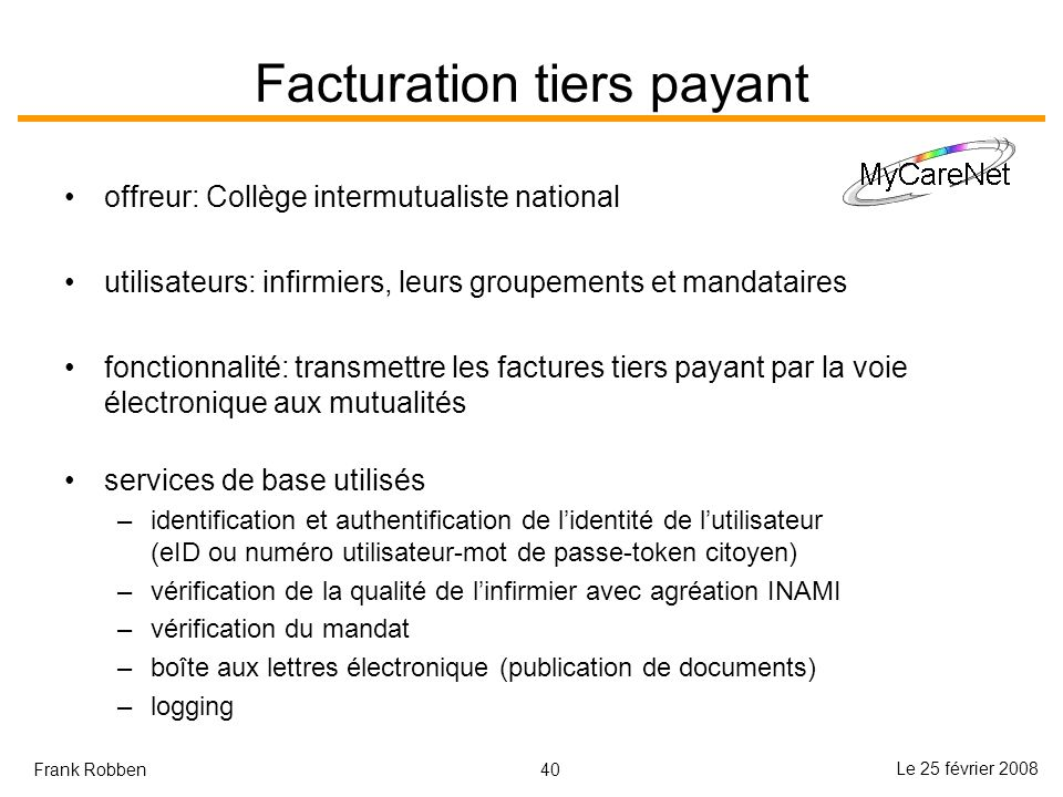 Facturation tiers payant