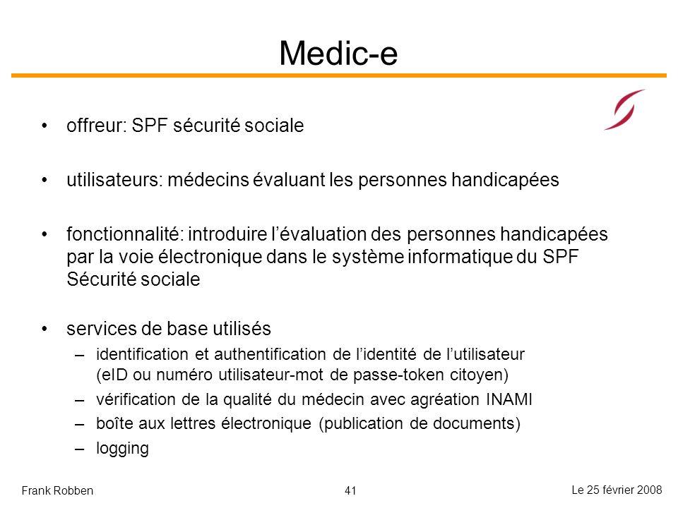 Medic-e offreur: SPF sécurité sociale