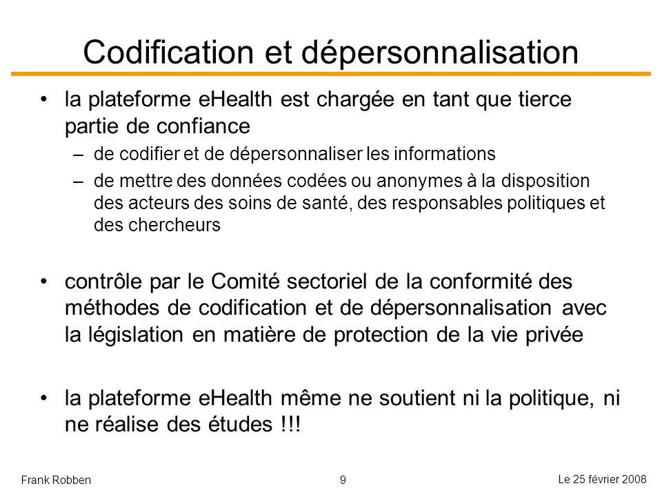 Codification et dépersonnalisation