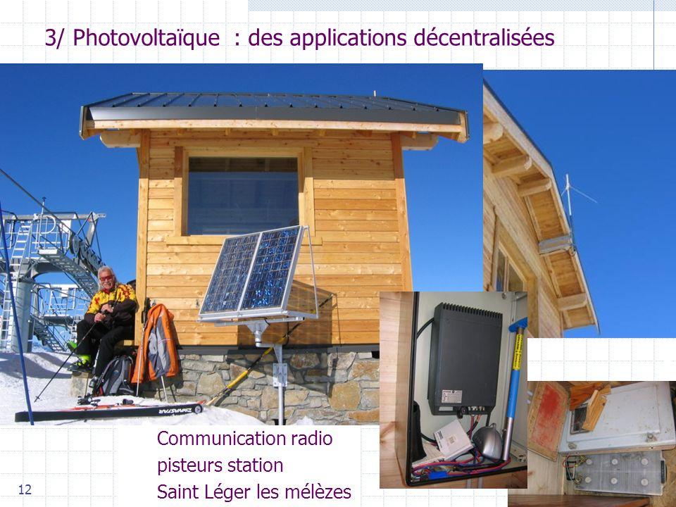3/ Photovoltaïque : des applications décentralisées