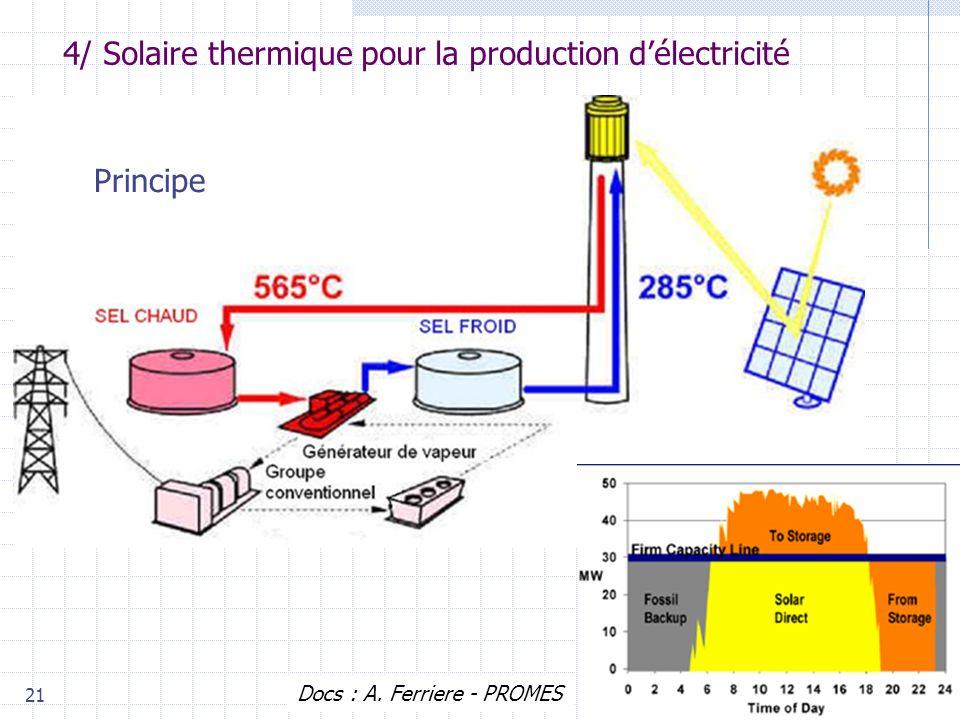 4/ Solaire thermique pour la production d'électricité