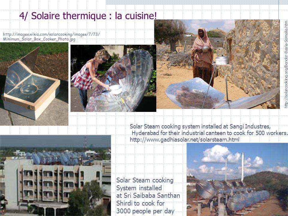 4/ Solaire thermique : la cuisine!