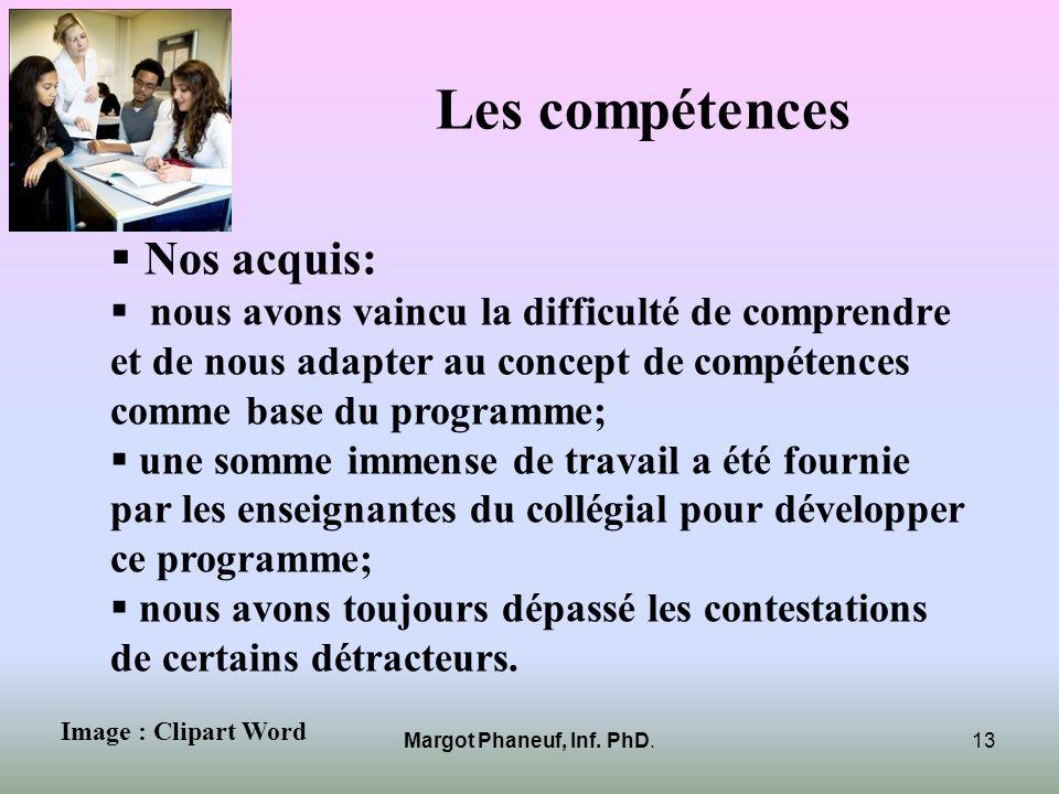 Les compétences Nos acquis: