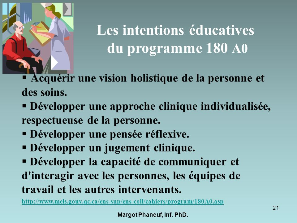 Les intentions éducatives