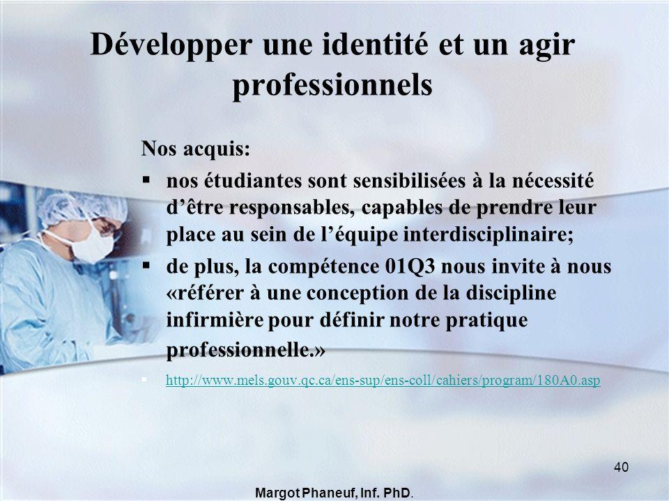 Développer une identité et un agir professionnels
