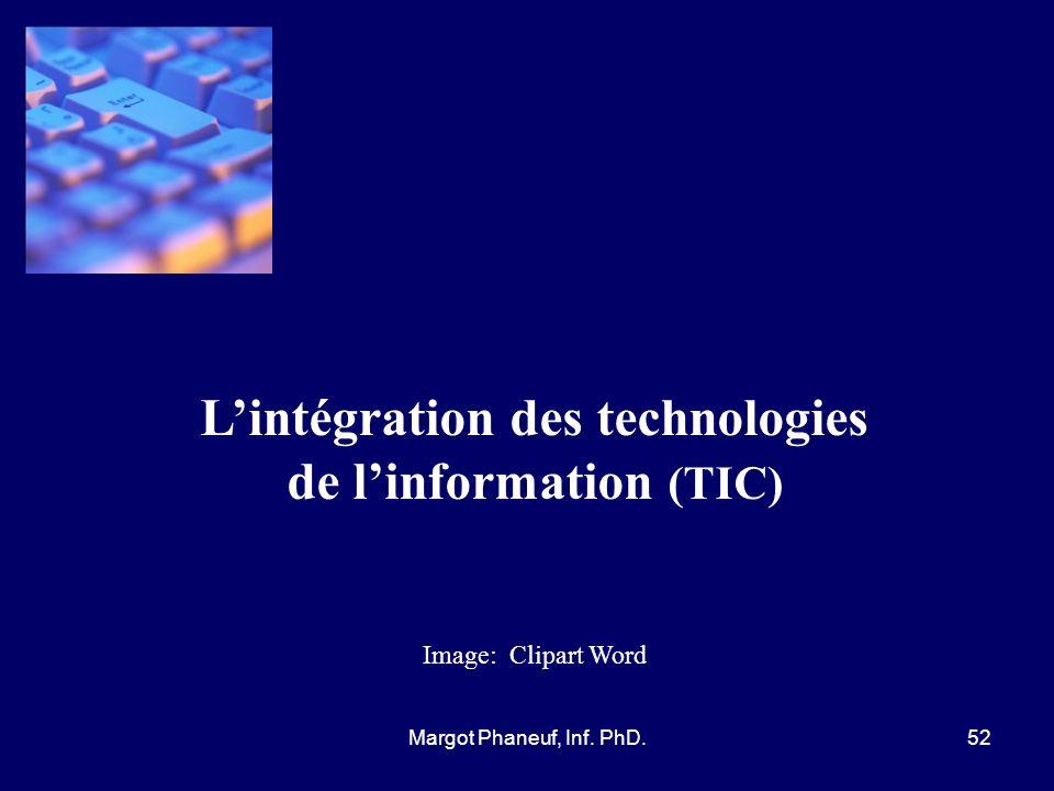 L'intégration des technologies de l'information (TIC)