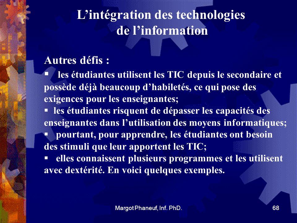 L'intégration des technologies