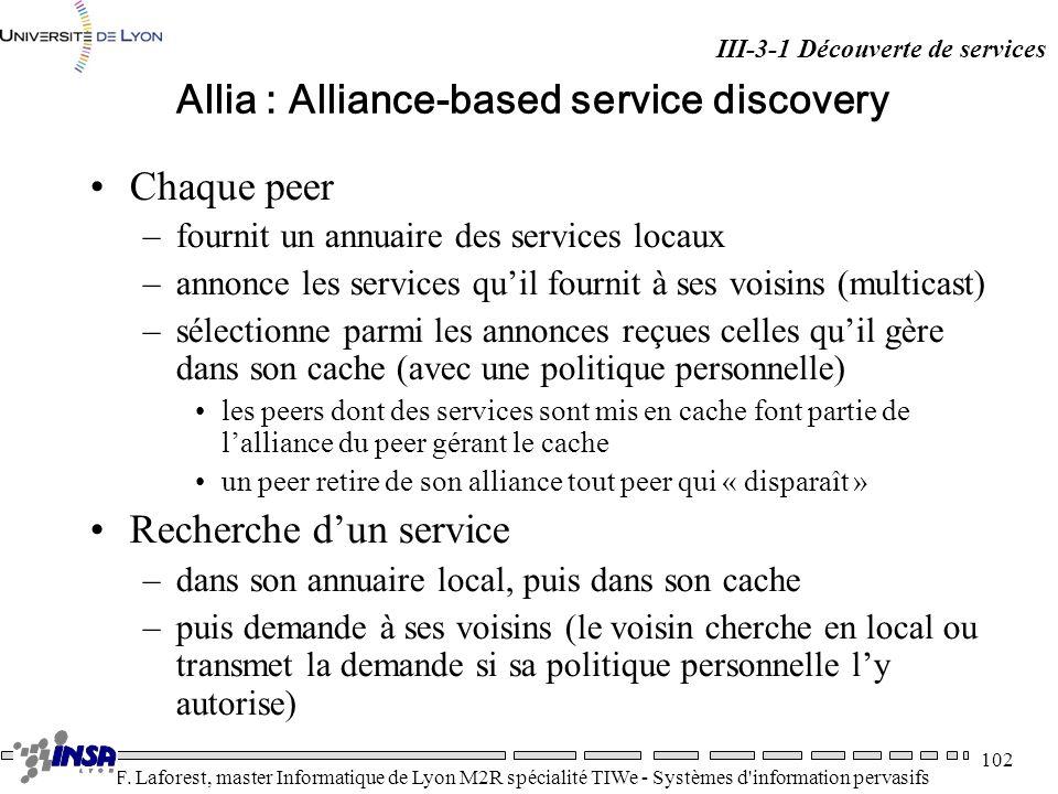 Allia : Alliance-based service discovery